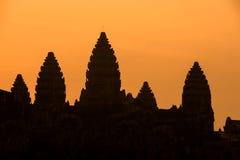 Angkor wat tower at dawn Stock Images