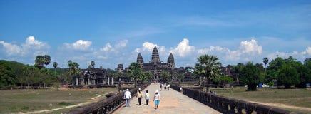 Angkor Wat una bella giornata Fotografia Stock Libera da Diritti