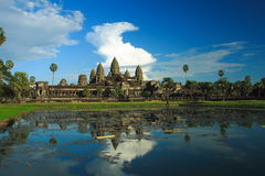Angkor Wat under the blue skay Royalty Free Stock Photography