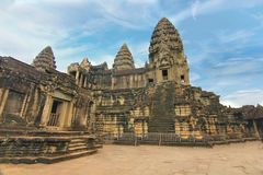 Angkor Wat of UNESCO world heritage in Siem Reap, Cambodia Royalty Free Stock Photography