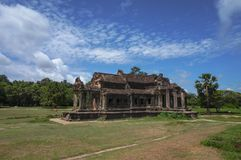 Angkor Wat is an UNESCO World Heritage site since 1992. Famous for it`s construction process and carving murals. Attract visitors from all over the world to Stock Images