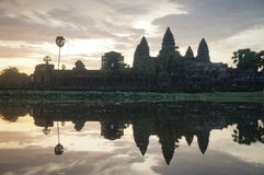 Angkor Wat is an UNESCO World Herutage site since 1992. Famous for it`s construction process and carving murals. stock photo
