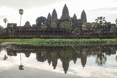Angkor Wat is an UNESCO World Herutage site since 1992. Famous for it`s construction process and carving murals. Attract visitors from all over the world to Stock Photos