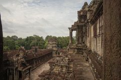 Angkor Wat is an UNESCO World Herutage site since 1992. Famous for it`s construction process and carving murals. Attract visitors from all over the world to Royalty Free Stock Photography