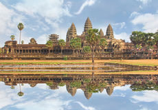 Angkor Wat UNESCO& x27 η παγκόσμια κληρονομιά του s σε Siem συγκεντρώνει, Καμπότζη Στοκ φωτογραφία με δικαίωμα ελεύθερης χρήσης