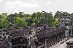 Angkor wat, view from 3rd level. Angkor, Siem Reap, Cambodia - April 14, 2013 : Angkor Wat - view down from the 3rd level Stock Image