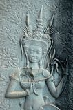 Angkor Wat wall engravings Stock Photo