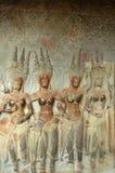 Angkor Wat wall engravings Stock Images