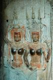 Angkor Wat wall engravings Stock Photography