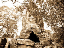 Angkor Wat west door royalty free stock photography