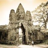 Angkor Wat west door Stock Image