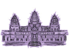 Angkor wat. On a white background Stock Image