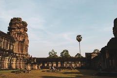 Angkor Wat ?wi?tynia, Siem Przeprowadza ?niwa fotografia stock