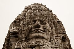 Angkor Wat ?wi?tynia, twarz obrazy royalty free