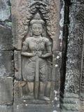 Angkor Wat wojownika zakończenia ulga Fotografia Royalty Free