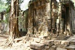 Angkor Watt complex temple. In Cambodia royalty free stock photo