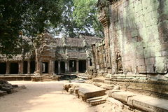 Angkor Watt complex temple. In Cambodia Royalty Free Stock Photography