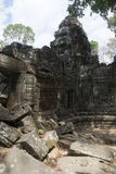 Angkor Watt - Ta Prohm temple ruin walls of the khmer city of Angkor wat site in Cambodia - State monument Stock Photography