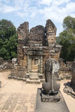 Angkor Watt - Ta Prohm temple ruin walls of the khmer city of Angkor wat site in Cambodia - State monument Stock Images
