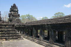 Angkor Watt - Ta Prohm temple ruin walls of the khmer city of angkor wat - State monument Stock Image