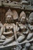 Angkor Watt - Ta Prohm temple ruin walls of the khmer city of angkor wat - State monument Royalty Free Stock Image