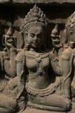 Angkor Watt - Ta Prohm temple ruin walls of the khmer city of angkor wat - State monument Royalty Free Stock Photo
