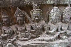 Angkor Watt - Ta Prohm temple ruin walls of the khmer city of angkor wat - State monument Stock Photo