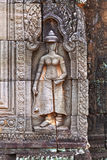 Angkor woman bas-relief, Cambodia Royalty Free Stock Photography