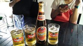 Angkorbier stock foto's