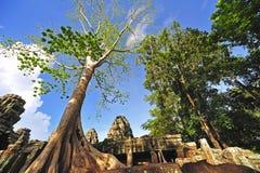 angkorcambodia khan preah royaltyfri fotografi