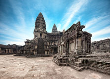 angkorcambodia wat Angkor Thom en khmertempel Royaltyfria Bilder