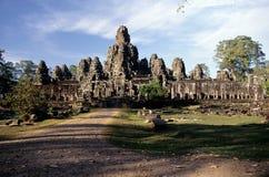angkorcambodikhmeren fördärvar tempelwat royaltyfria bilder
