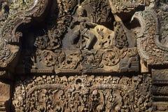 angkoren banteay cambodia fördärvar sreitempelwat arkivbild