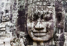 angkorframsidor gjorde stenen Royaltyfria Bilder