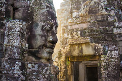 Angkorgezichten Stock Fotografie
