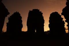 Angkorian temple at dusk Royalty Free Stock Photo