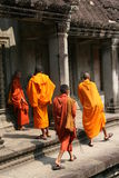 angkormonks Royaltyfri Fotografi