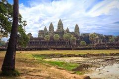 Angkorwat in Cambodia. Angkor Wat, Capital Temple, Khmer temple in Cambodia royalty free stock photo