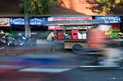 ANGKRINGAN STREET FOOD VENDOR Stock Photos