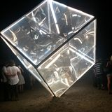 Angle étonnant de cube photographie stock libre de droits