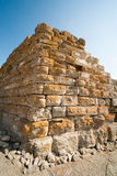 Angle ancient fortress wall in Nessebar, Bulgaria Stock Photo