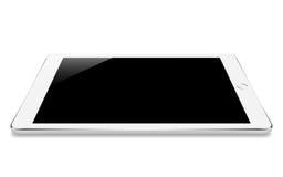 angle blanc de perspective de comprimé de maquette d'isolement sur la conception blanche de vecteur illustration libre de droits