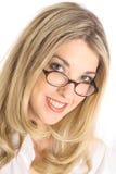angle blonde glasses headshot pretty Στοκ εικόνες με δικαίωμα ελεύθερης χρήσης
