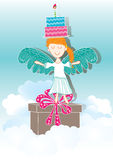 Angel Bring Day Gifts_eps Royalty Free Stock Photography