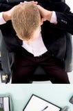 angle businessman high view Στοκ φωτογραφία με δικαίωμα ελεύθερης χρήσης