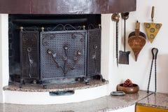 Angle chimney living room Stock Photography