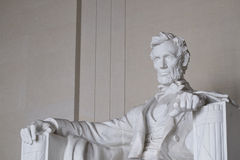 The Angle Close Up of Abraham Lincoln Memorial in Washington DC Royalty Free Stock Photo