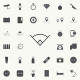 angle dans l'icône de base-ball Ensemble détaillé d'icônes minimalistic Signe de la meilleure qualité de conception graphique de  Illustration Libre de Droits