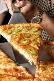 Angle de pizza de poivre Image libre de droits