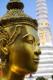 Angle de plan rapproché de la tête de Bouddha photographie stock